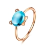 Picture of IDEAL 18K Gold Bear Topaz Ring