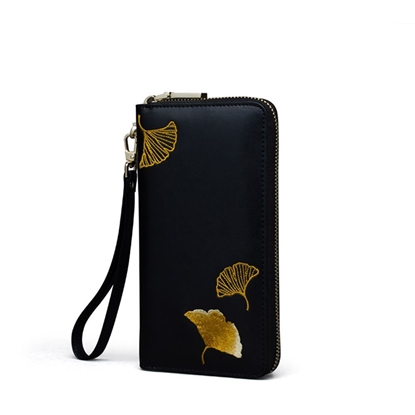 Picture of PMSIX Ginkgo Long Zipped Purse