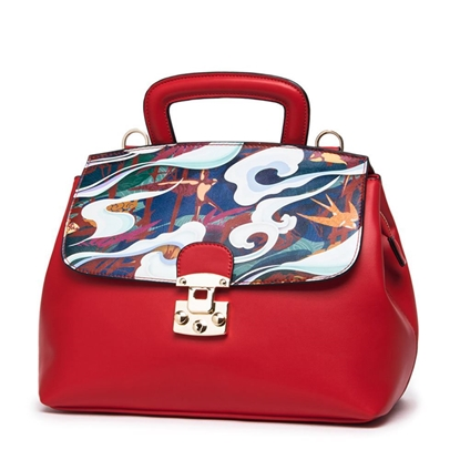 Picture of PMSIX Printed Cowhide Shoulder Bag