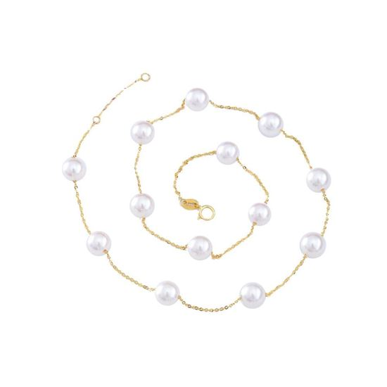 Picture of 18K Gold Akoya Pearls Starlit Necklace