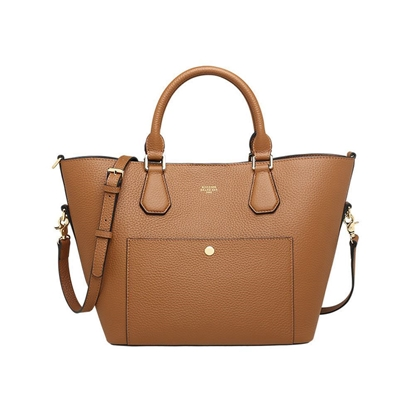 Picture of KIZZME Cowhide Leather Bag in Wing Shape(Light Brown)