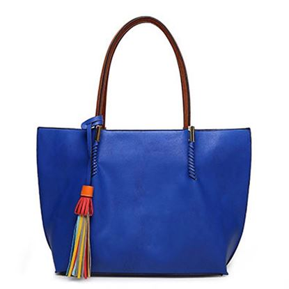 Picture of Simple Large Handheld Bag (Blue)