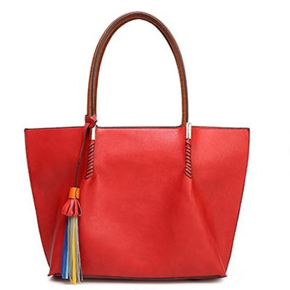 Picture of Simple Large Handheld Bag (Red)