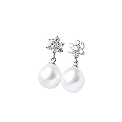 Picture of Sispol Sterling Silver Freshwater Pearl Earrings