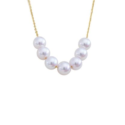 Picture of 18K Gold Multi Beads Pearl Necklace