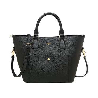 Picture of KIZZME Cowhide Leather Bag in Wing Shape(Black)