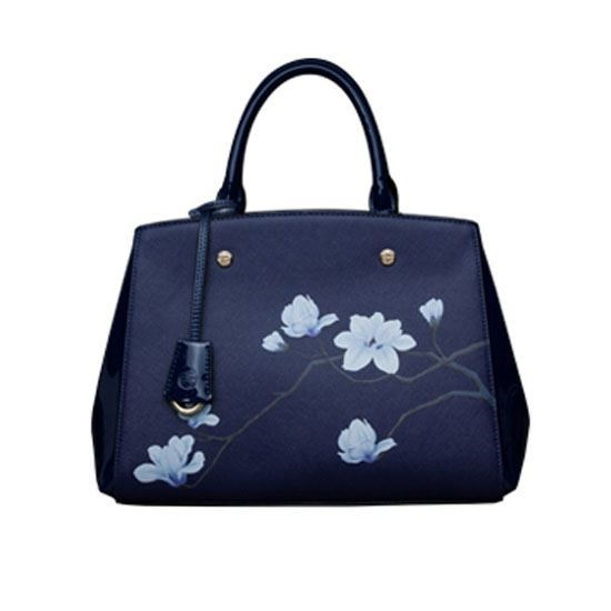 Picture of PMSIX Magnolia Pattern Large Handheld Bag(Royal Blue)