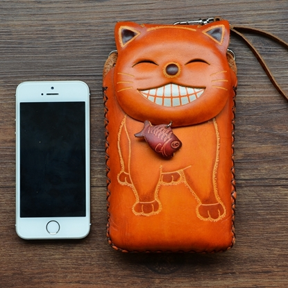 Picture of Handmade Mobile Bag - Cheshire Cat