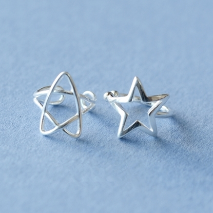 Picture of A-Studio Solid 925 Fine Silver Ear Cuffs - Star Frame (single for sale)