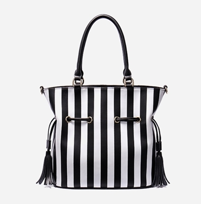 Picture of NAWO Piano Keys Tassel Bucket Bag