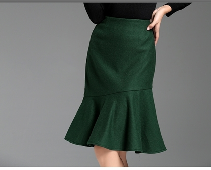 Picture of F/W Yihui Winter Elegant High Waist Fishtail A-line Skirt