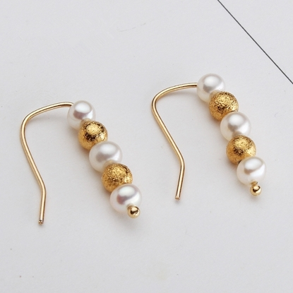 Picture of Vivi Handmade Elegant 14K Gold Fill Freshwater Pearl Ear Climbers