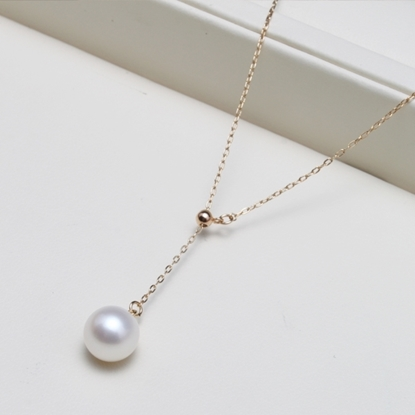Picture of Vivi 14K Gold Fill White Freshwater Pearl Short Necklace
