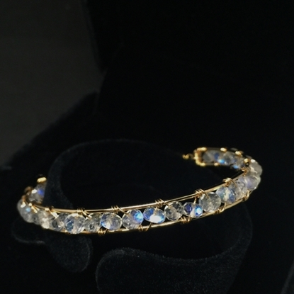 Picture of BestBlue Original Natural Blue Moonstone & 14K Gold Fill Bracelet